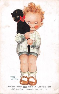 Mabel Lucie Attwell Postcard When YOU DO GET A Little BIT OF Luck 1922 549 | eBay
