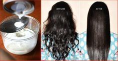 Coconut milk and lemon mask to have straight hair – curly hair mask to naturally straight hair – hair straightening treatment – natural hair relaxer Ingredients: 1 Cup coconut oil 2 Tablespoon oli… Natural To Relaxed Hair, Curly Hair Styles, Natural Hair Styles, Baking Soda Shampoo, Smooth Hair, Tips Belleza, Grow Hair, Hair Hacks, Healthy Hair