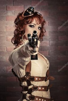 depositphotos_53856295-stock-photo-steampunk-girl-with-gun.jpg (685×1024)