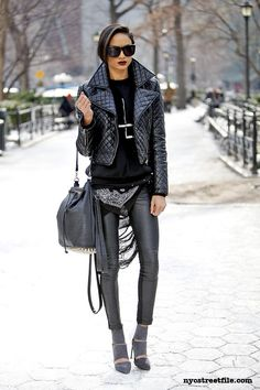 that is a whole lotta black & a whole lotta cool. #MichelleWilson #offduty in NYC.