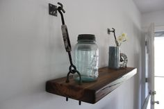 Reclaimed Wood Turnbuckle Wall Shelf by AlexsWoodWorks on Etsy