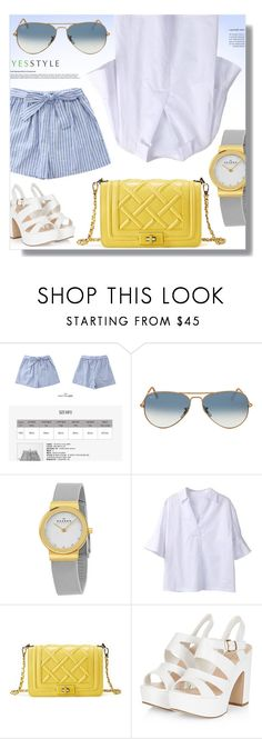"""""""YESSTYLE.com"""" by monmondefou ❤ liked on Polyvore featuring Ray-Ban, Skagen, Sentubila, party, anniversary, celebration and yesstyle"""