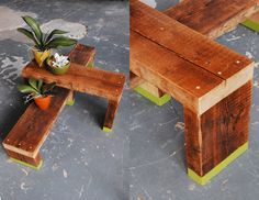 Bring the warmth outside with this nifty idea for an #outdoor #sidetable. Make sure you use a seasoned #hardwood for outdoor timber use. #Tallowwood #Spotted Gum #Ironbark are highly recommended!