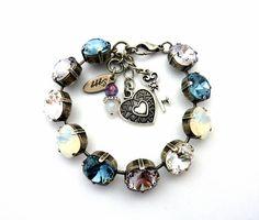 Madly In Mauve Swarovski Crystal Chunky Tennis Bracelet 12mm
