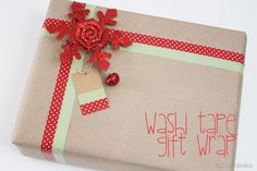 DIY::Washi Tape Gift Tags and Wrap ~ need to remember this for Christmas!