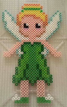 Tinkerbell disney perler bead pattern by Amy Lynn