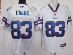 Bills #83 Lee Evans White 2011 New Style Stitched NFL Jersey