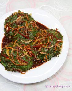깻잎김치 만드는법 쉬운데 엄청 맛있어~ 깻잎장아찌! : 네이버 블로그 Asian Recipes, Ethnic Recipes, Korean Food, Kimchi, Japchae, Cooking, Healthy, Life, Food Food