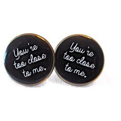 You're Too Close to Me Earrings, 90s Style Internet Culture Bubblegum... (44 RON) ❤ liked on Polyvore featuring jewelry, earrings, goth earrings, pastel goth jewelry, gothic jewelry, goth jewelry and grunge jewelry