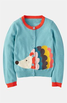 *i wish this came in an adult version cuz id so wear it! ;)  Mini Boden 'Fun' Cardigan (Little Girls & Big Girls)
