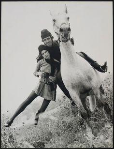 BRUNO BENINI (1925-2001)  Yvonne Goederman Being Swept up by Horseman Terry Scott, Kangaroo Ground Victoria 1970
