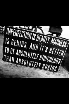 L'imperfezione è bellezza