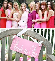 pink and bride to be bridal shower