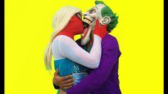 Spiderman vs Joker gays ! Kiss Love Frozen Elsa Pink Spidergirl catwomen...