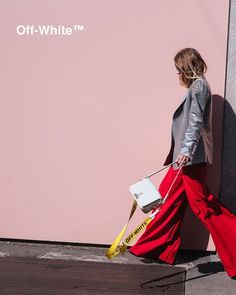 Off-White c/o Virgil Abloh Binder-Clip Shoulder Bag White C, Off White, Virgil Abloh, Fashion Bags, Womens Fashion, Bag Clips, Street Photo, Streetwear Brands, Business Women