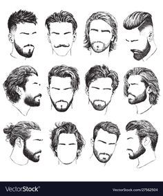 Mens Hairstyles With Beard, Boy Hairstyles, Hair And Beard Styles, Haircuts For Men, Curly Hair Styles, Goatee Styles, Classic Mens Hairstyles, Barber Haircuts, Popular Mens Hairstyles