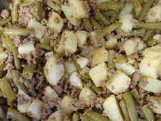 Easy ground beef dinner that kids and toddlers LOVE!  It is also cheap to make!