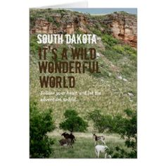 Wild Wonderful World of South Dakota Card