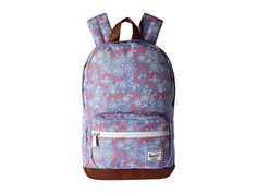 HERSCHEL SUPPLY CO. HERSCHEL SUPPLY CO. - POP QUIZ KIDS (MEADOW/TAN SYNTHETIC LEATHER) BACKPACK BAGS. #herschelsupplyco. #bags #leather #lining #polyester #backpacks #