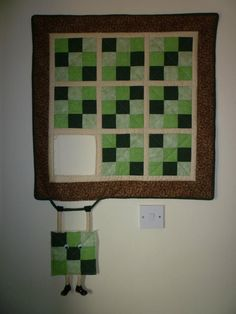 Cute patchwork with a twist Cute Quilts, Small Quilts, Mini Quilts, Bright Quilts, Lap Quilts, Hanging Quilts, Quilted Wall Hangings, Sewing Humor, Quilting Quotes