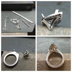 Pear-shape, platinum, progress pics... #platinum #pearshape #diamond #handmade #engagementring #halo #diamondring #bespoke #custommade #jewellery #canberra #jeweller #canberrajewellers #canberrajeweller #progresspic #wip #instajewelry