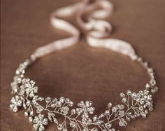 The 'Stacey' Stunning handcrafted beaded bridal headpiece