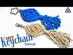 Macrame Keychain DIY | Key Hanger Tutorial - Pattern #5 - YouTube