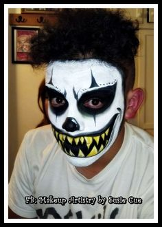 Scary Clown, clown , makeup, Halloween makeup