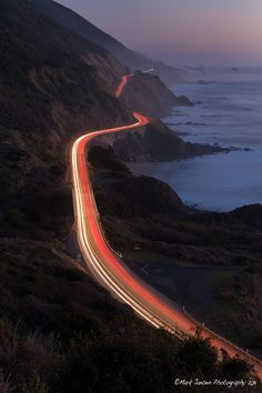 Traffic on 101 south to Big Sur
