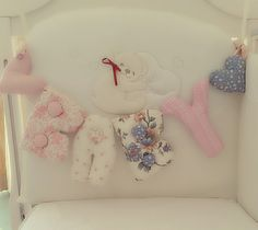 Perfect decoration for Baby Christening,shower, baby badroom. Handmade letters