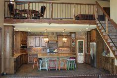 barndominium kitchen- loft above just like I want