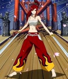 "Erza Scarlet - My favorite Character from the Manga ""Fairy Tail"" Erza Scarlet Armor, Erza Scarlet Cosplay, Fairy Tail Erza Scarlet, Fairy Tail Girls, Fairy Tail Anime, Erza Y Jellal, Jerza, Nalu, Kuroko"