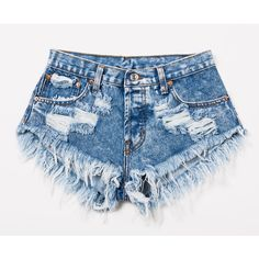 Dangers Acid Studded Babe Shorts ❤ liked on Polyvore featuring shorts, short, ripped shorts, frayed jean shorts, denim short shorts, denim cut-off shorts and destroyed jean shorts