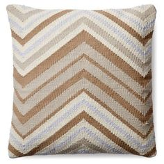 Check out this item at One Kings Lane! Chevron 18x18 Cotton Pillow, Camel