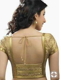 30 Latest Patch Work Saree Blouse Designs Patch work blouse designs are very attractive looking because of the work that they have. Patch work designs usually have layers of fabrics used to form different patterns and designs. Golden Blouse Designs, Simple Blouse Designs, Stylish Blouse Design, Dress Designs, Patch Work Blouse Designs, Saree Blouse Neck Designs, Neckline Designs, Designer Blouse Patterns, Lehenga Blouse