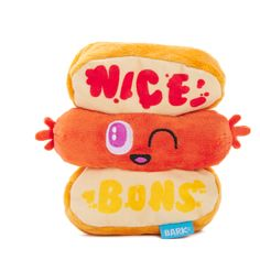 """td {border: 1px solid #ccc;}br {mso-data-placement:same-cell;} This squeaky weenie is coming on strong. It's the toy that says, """"you're not the only hot dog in this house!"""" Size: Extra Small/Small: 6.25""""W x 1.75""""D x 5.5""""H td {border: 1px solid #ccc;}br {mso-data-placement:same-cell;} Dog Barking, Dog Toys, Hot Dogs, Your Dog, Pup, Small Small, Greed, Strong, House"""