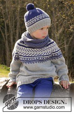 Little Adventure / DROPS Children - Gratis strikkeoppskrifter fra DROPS Design Baby Knitting Patterns, Knitting For Kids, Free Knitting, Crochet Patterns, Drops Design, Knit Crochet, Crochet Hats, Boys Sweaters, Fair Isle Knitting