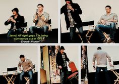 [gifset] Pure brothers.. go from adorable to annoyed! <3 #Footfive #Jensen #Jared #ChiCon08