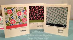 Debbie's Creative Spot: Quick and Easy Cards with Pretty Petals Designer Series Paper Stack
