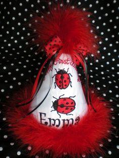 ladybug party hat