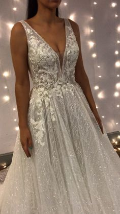 How sparkly is this gown 'Nellie' by Enzoani ✨🥰✨click below to try this gown✨Best Picture For Beach Wedding Dress plus size For Your TasteYou are looking for something, and it is going to tell you exactly what you are looking for, and you didn't fi Wedding Dress Trends, Princess Wedding Dresses, Bridal Dresses, Wedding Gowns, Prom Dresses, Sparkly Wedding Dresses, Wedding Dress Sparkle, Diy Wedding, Lace Wedding