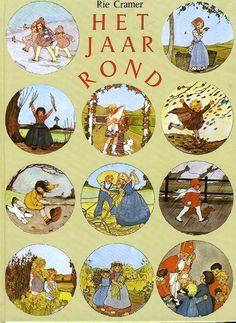 'Het jaar rond', tekeningen en gedichtjes van Rie Cramer voor elk seizoen.