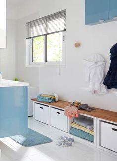 salle de bains leroy merlin avec un banc pour les enfants
