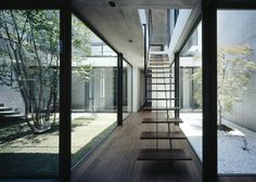 still japanese courtyard house - chiba - apollo - stair