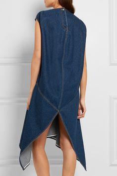 Balenciaga | Robe asymétrique en jean | NET-A-PORTER.COM