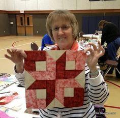 Boxy stars pattern by Bonnie Hunter.