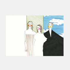 Valerie Servais - Todd Lynn S/S 14 - SHOWstudio #fashion #illustration