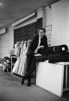 Andrew Wilder Gallery | Detail | Portrait of Yves St. Laurent #3, Paris, 1962 | Mark Shaw Photography