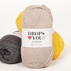 DROPS ♥ You is a classic pure cotton yarn that's perfect to play with shades! Available in 19 beautiful colors that can be combined in so many ways. Drops Kid Silk, Drops Baby, Drops Design, Drops Karisma, Laine Drops, Drops Alpaca, Shade Card, Recycled Denim, Kid Outfits