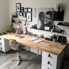 2,123 отметок «Нравится», 51 комментариев — DecoLookbook (@decolookbook) в Instagram: «Me gustó mucho este escritorio . Combina blanco y madera y tiene un montón de espacio de…»